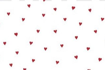 Scampolo 46x150cm COTONE POPELIN - HEART