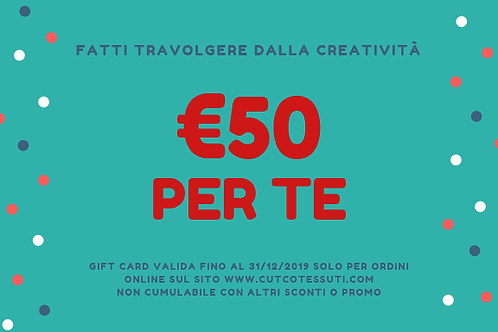 GIFT CARD- REGALA LA CREATIVITÀ