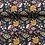 Thumbnail: COTONE POPELIN - FLOWER DAISY BLU SCURO