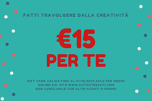 GIFT CARD - REGALA LA CREATIVITÀ