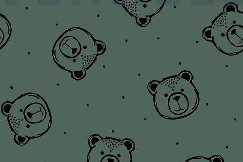 GOTS - FELPA INVERNALE BEAR VERDE SCURO