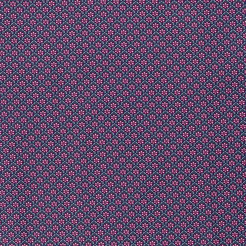 COTONE POPELIN - FLOWER BLU