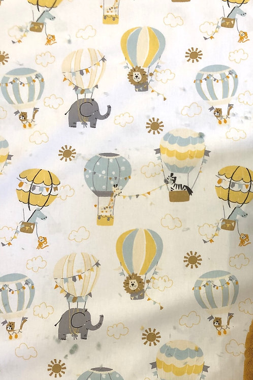 scampolo 75x148cm COTONE POPELIN -FLY WITH ME