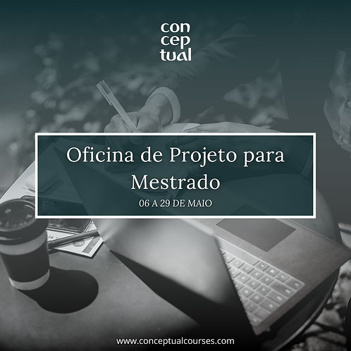 Oficina de Projeto para Mestrado/Doutorado