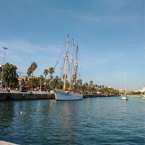 Sailboat in Barcelona Spain