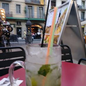 Dinner along La Rambla in Barcelona Spain