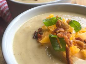 Loaded Chilled Cauliflower-Leek Soup [Instant Pot®]