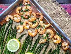 Lemon Garlic Shrimp & Asparagus