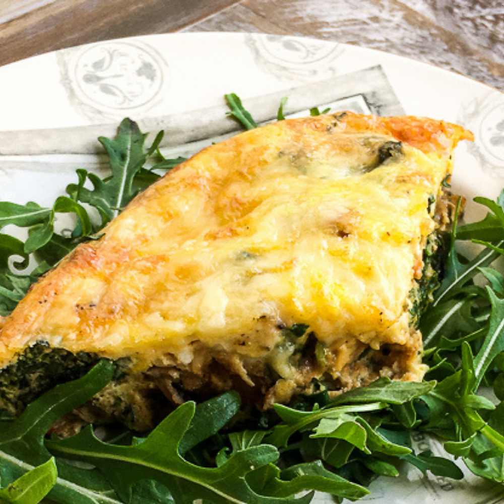 This is a cover image for a recipe for Baked Sweet Potato Frittata from Eats and Journeys