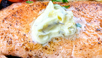 Crispy Salmon in Herb Butter