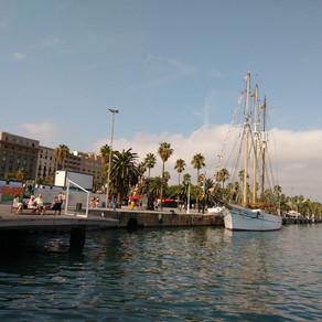 Waterfront in Barcelona Spain