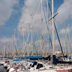 Boats in the Barcelona Spain Waterway
