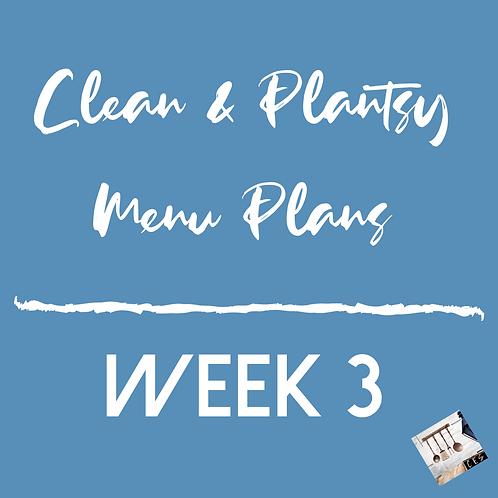 Week 3 - Clean & Plantsy Recipes and Menu Plan