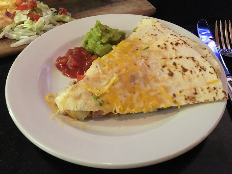 This is an image of Ancho Chicken Quesadillas
