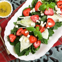 Strawberry Fennel Salad with Homemade Vi