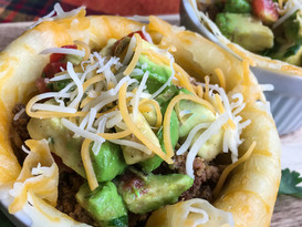 Taco Bowls with Avocado Salsa for National Taco Day
