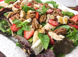 Instant Pot® Chicken Salad with Strawberries, Feta, & Pecans