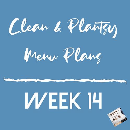 Week 14 - Clean & Plantsy Recipes and Menu Plan