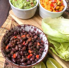 Spicy Black Bean Taco Wraps with Fresh G