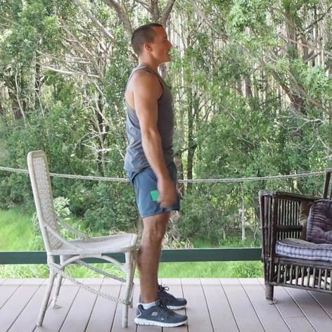 Desk Exercise Chair Squats