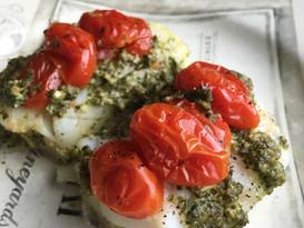 Mediterranean-Style Baked Cod en Papillote