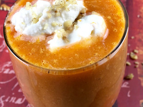 Carrot Cake Smoothie with Coconut Whipped Cream