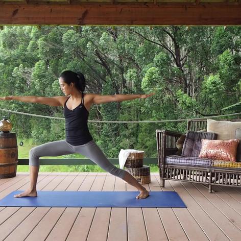Yoga-Warrior Pose