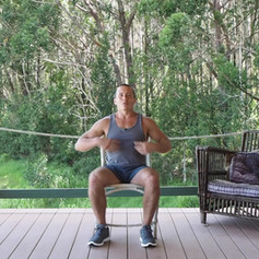 Desk Exercise Seated Chair Twist