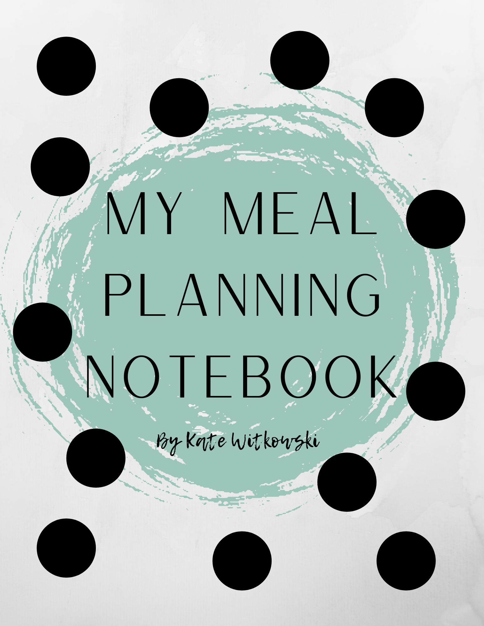 My Meal Planning Notebook
