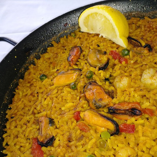 Spain.. Paella in Tio Pepe Square in Mad