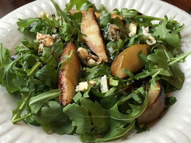 Roasted Pear with Creamy Blue Cheese Salad