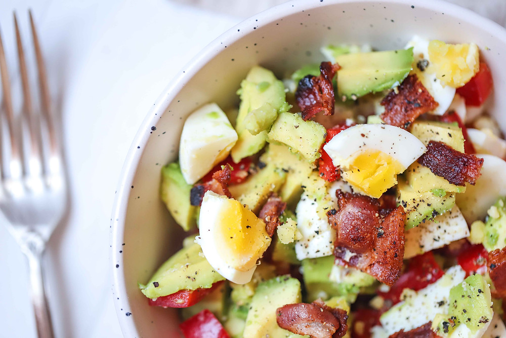 Egg, Bacon & Avo Bowl, Keto Friendly, Low-Carb Recipes