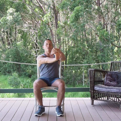 Desk Exercise Seated Wrist Stretch