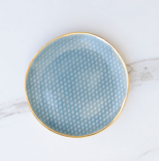 Diamond Jewelry Dish / Fog + Gold