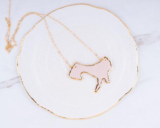 Fragment Necklace / Blush + Gold