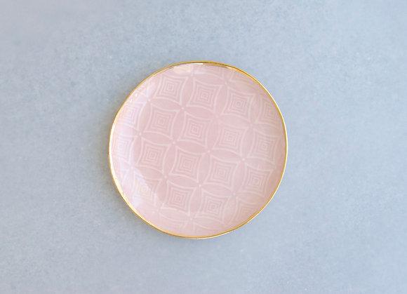 Art Deco Jewelry Dish / Blush + Gold