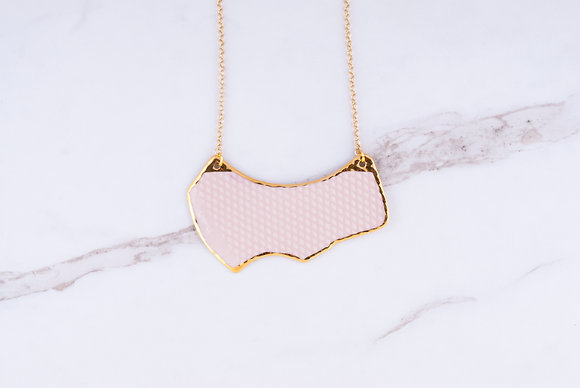 Fragment Necklace / Blush + Gold