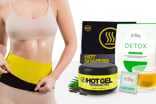 Hot Belt Women + Dr. Ming's Detox + HV Thermo Active Gel (4 oz)
