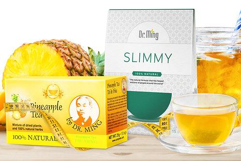 Dr. Ming's Pineapple Tea (15 Bags) + Dr. Ming's Slimmy Tea (15 Bags)