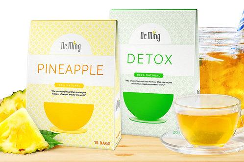 Dr. Ming's Pineapple Tea (15 Bags) + Dr. Ming's Detox Tea (20 Bags)