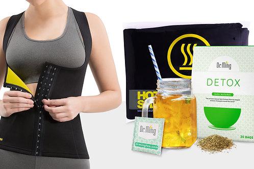Cami Hot Waist Cincher + Dr. Mings Detox Tea (20 Bags)