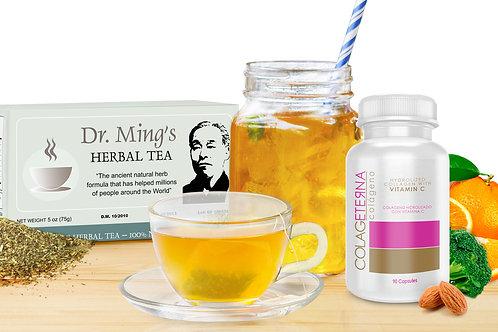 Colageterna + Dr. Ming's Green Tea (30-pack)