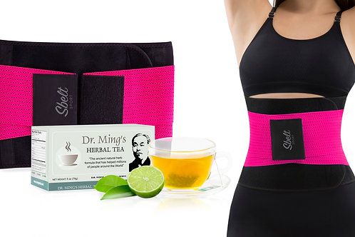 Sbelt Sport with Neoprene (Pink) + Dr. Ming's Green Tea (30-Pack)