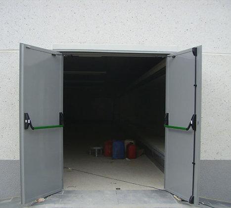 Porta folha dupla aço galvanizado