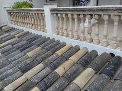 wir verwenden gerne alte Dachziegel