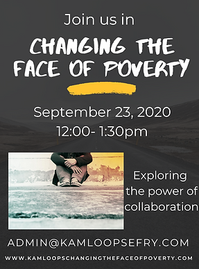 Changing the face of poverty poster- sep
