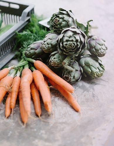 Zanahorias y alcachofas
