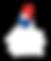 Logo ABF vertical blanc fond transparent