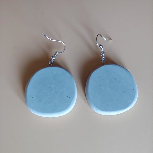 cement round earrings: solo