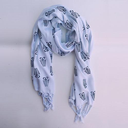 aya shawl - lite blue
